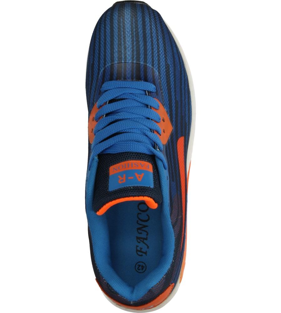 Męskie SPORTOWE CASU A416 niebieski;pomarańczowy;