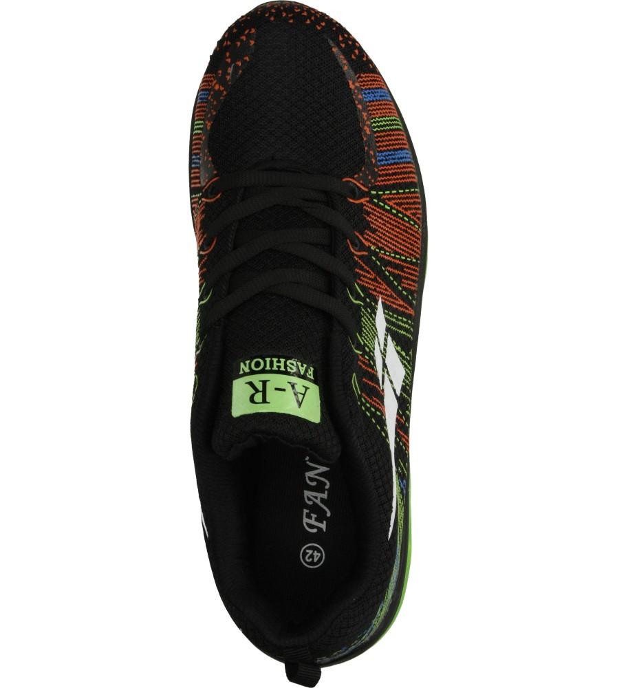 Męskie SPORTOWE CASU A417 czarny;zielony;