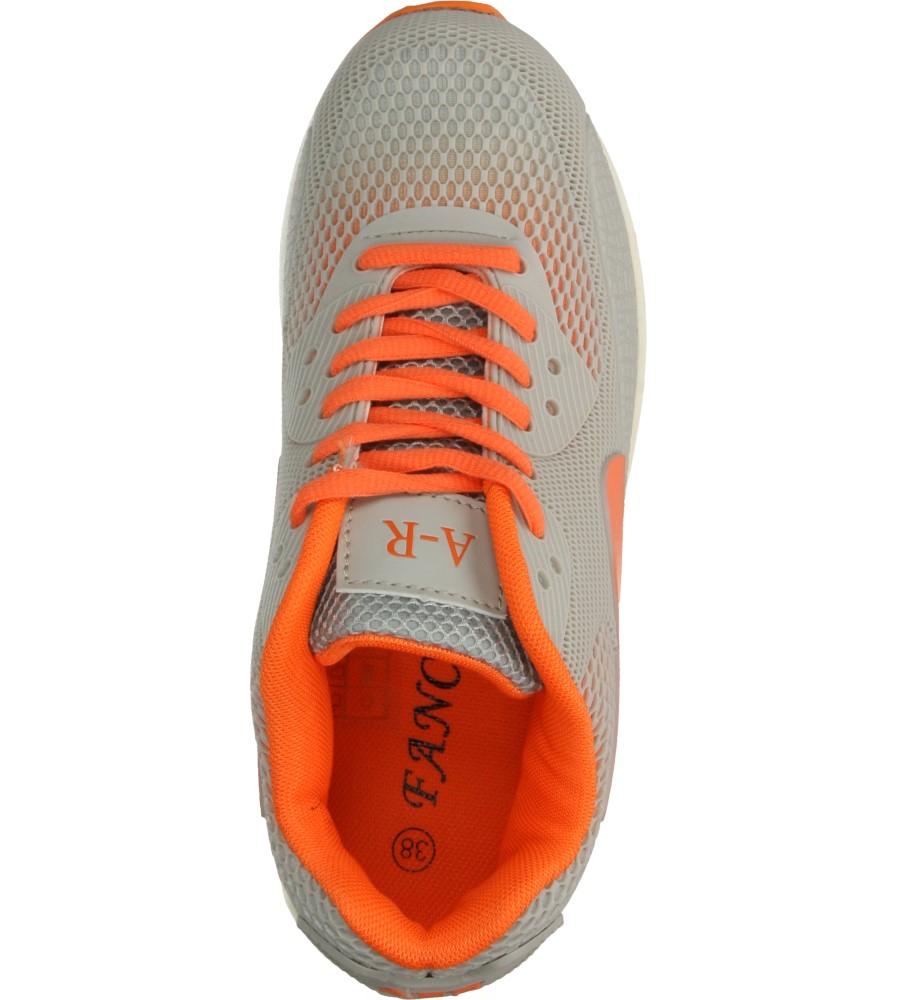 Damskie SPORTOWE CASU B402 szary;pomarańczowy;
