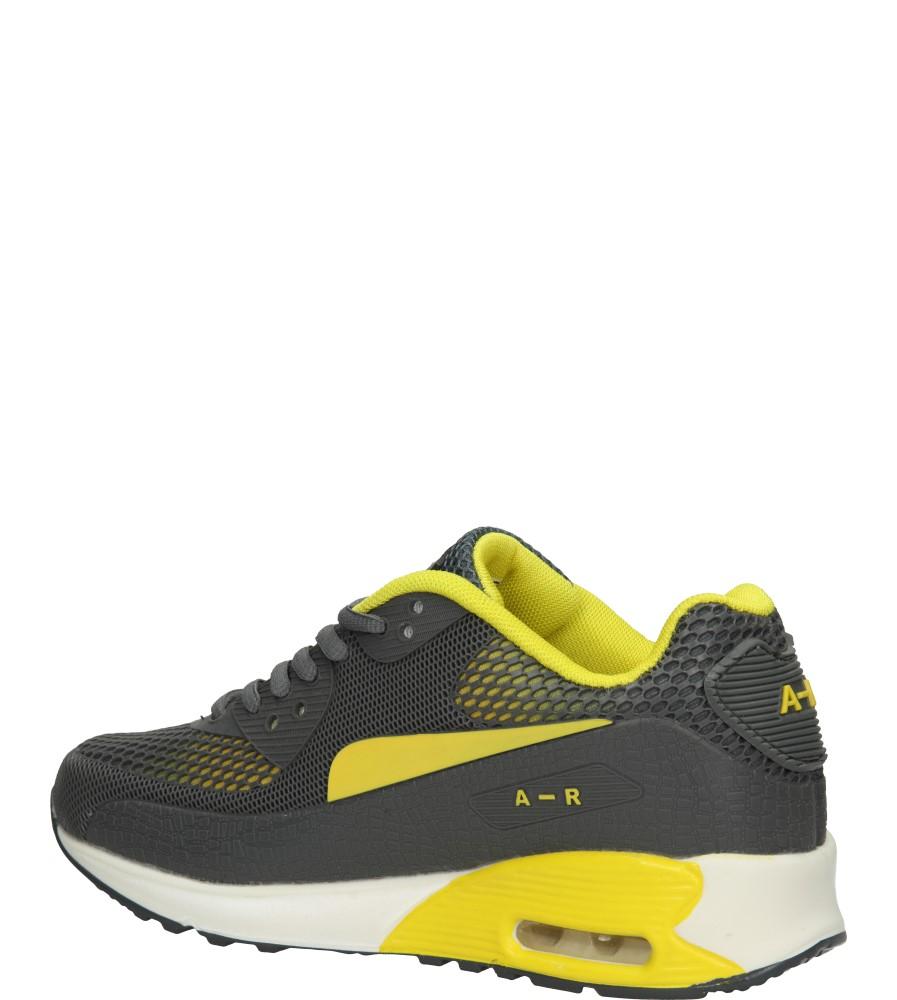 SPORTOWE CASU B402 kolor ciemny szary, żółty