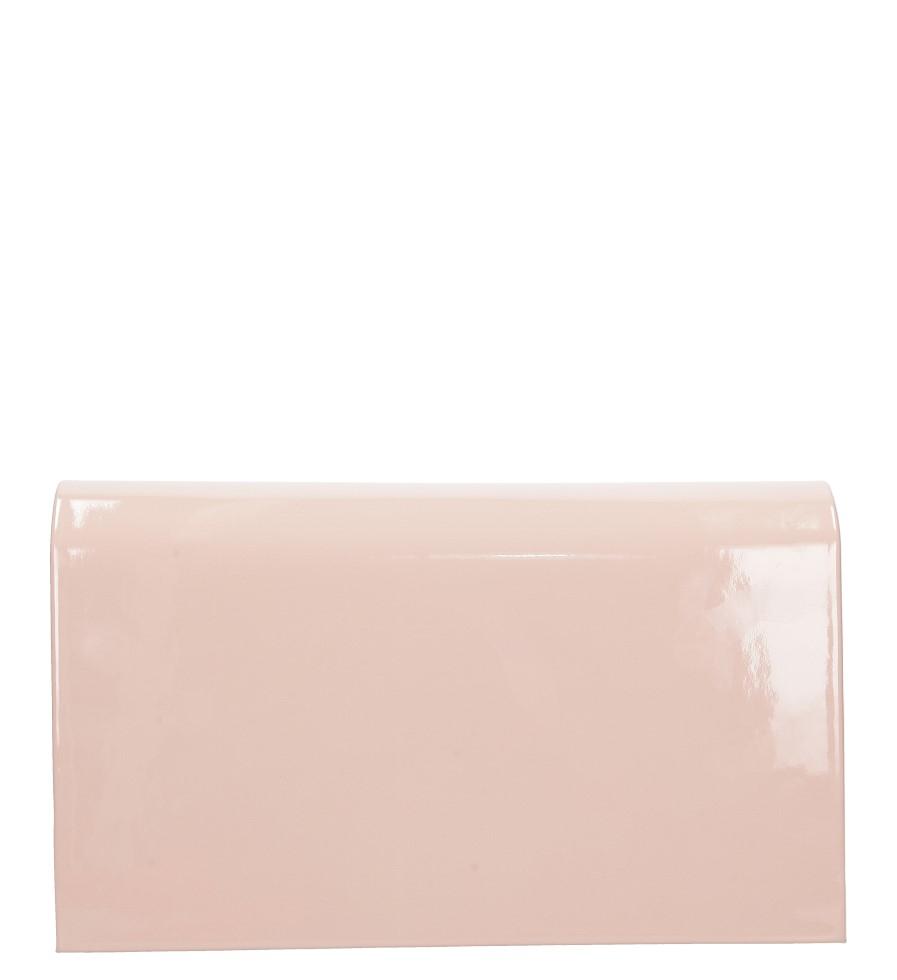 707952fcf0d62 ... Różowa torebka wizytowa lakierowana Casu M01B material skóra  ekologiczna lakierowana ...
