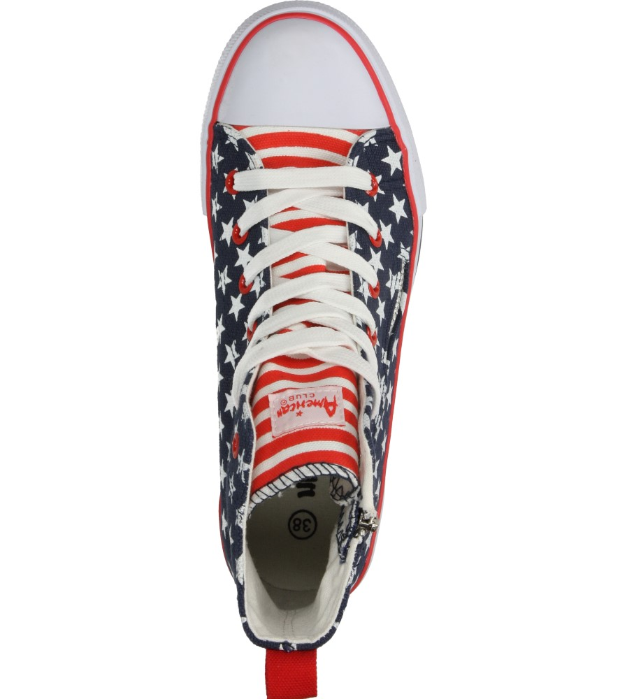 Damskie TRAMPKI AMERICAN LH-15-9124 niebieski;czerwony;