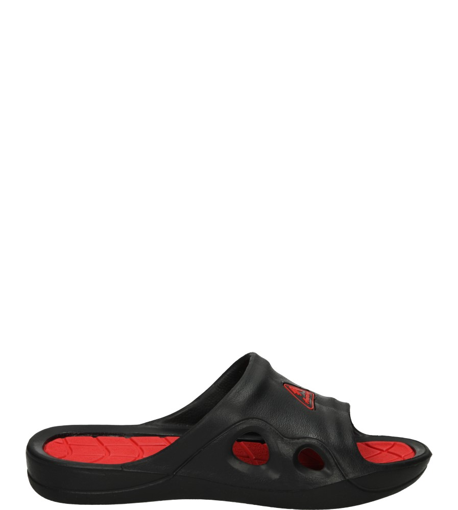 Męskie KLAPKI AMERICAN LC-A083010-1 czarny;czerwony;