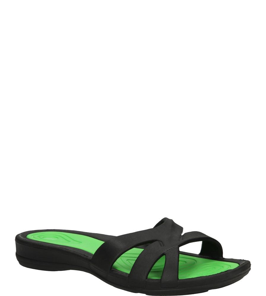 Damskie KLAPKI AMERICAN A055-140610-1 czarny;zielony;