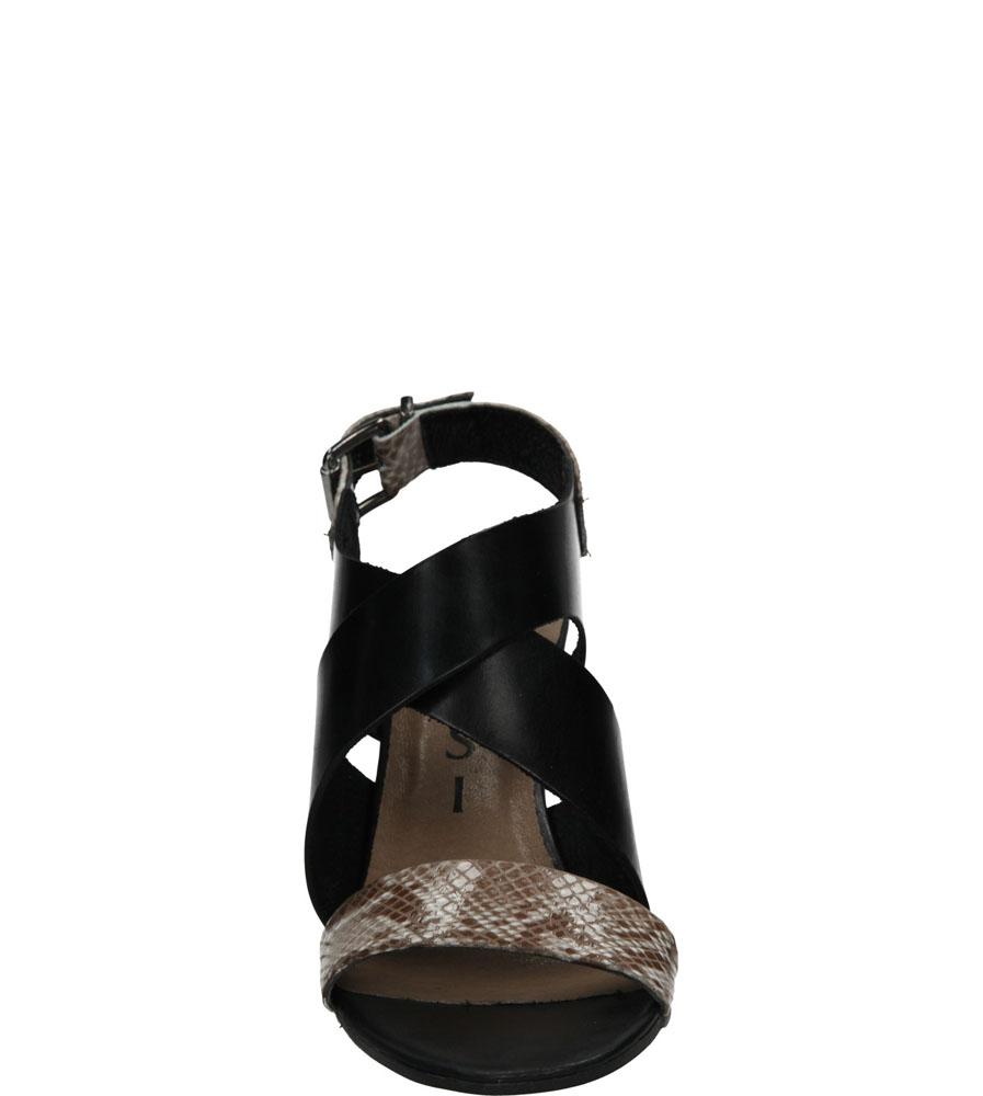 Damskie SANDAŁY NESSI 66205 czarny;brązowy;