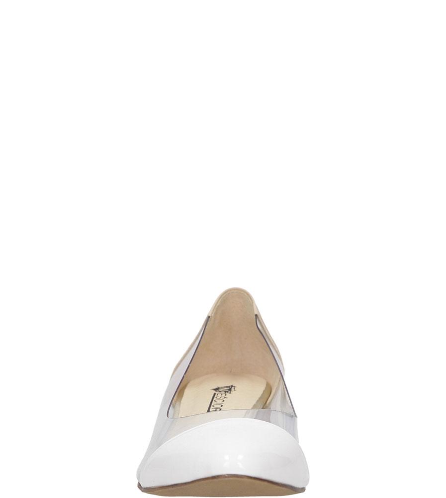 BALERINY NEŚCIOR 077-Z kolor beżowy, biały
