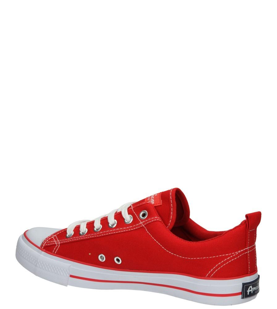 Męskie TRAMPKI AMERICAN LH-15-DSLN01-6 czerwony;biały;