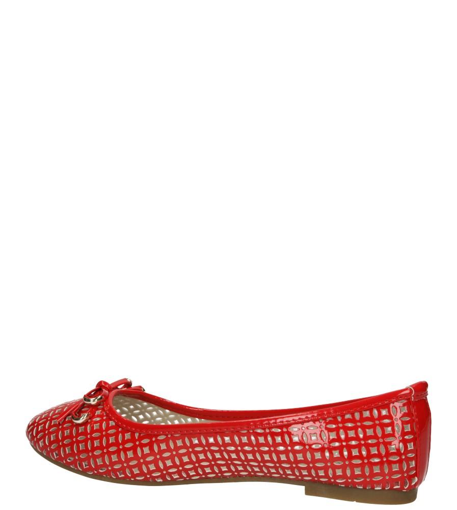 Damskie BALERINY CASU MN2063 czerwony;;