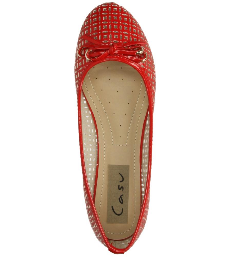 BALERINY CASU MN2063 kolor czerwony