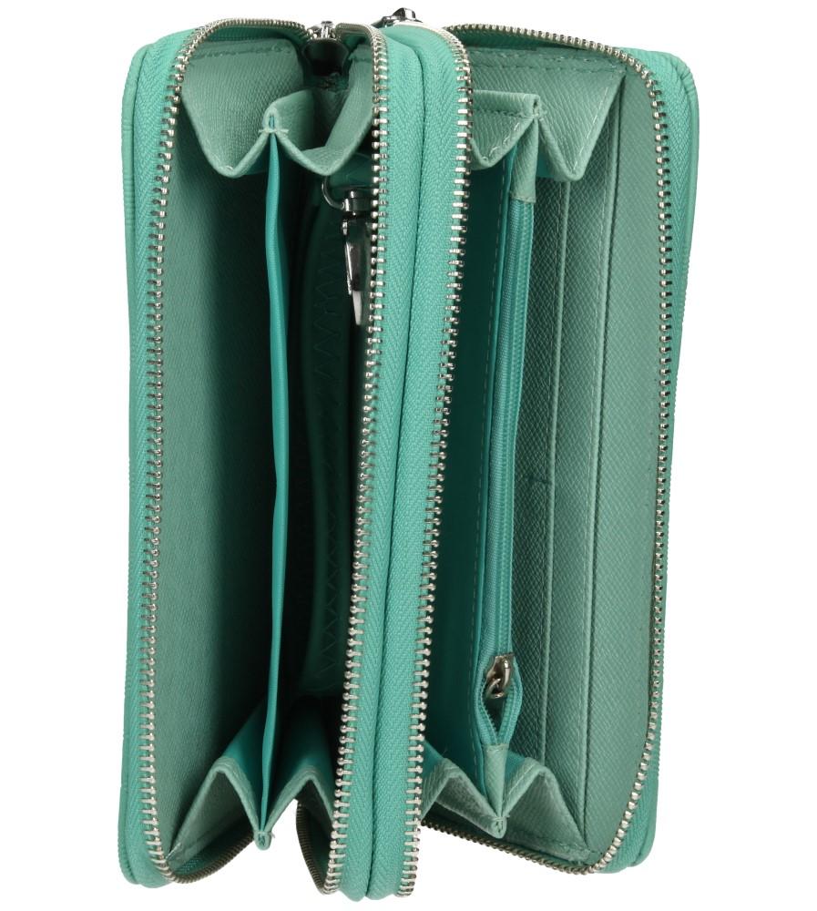 Damskie PORTFEL YUHE F6252 zielony;;