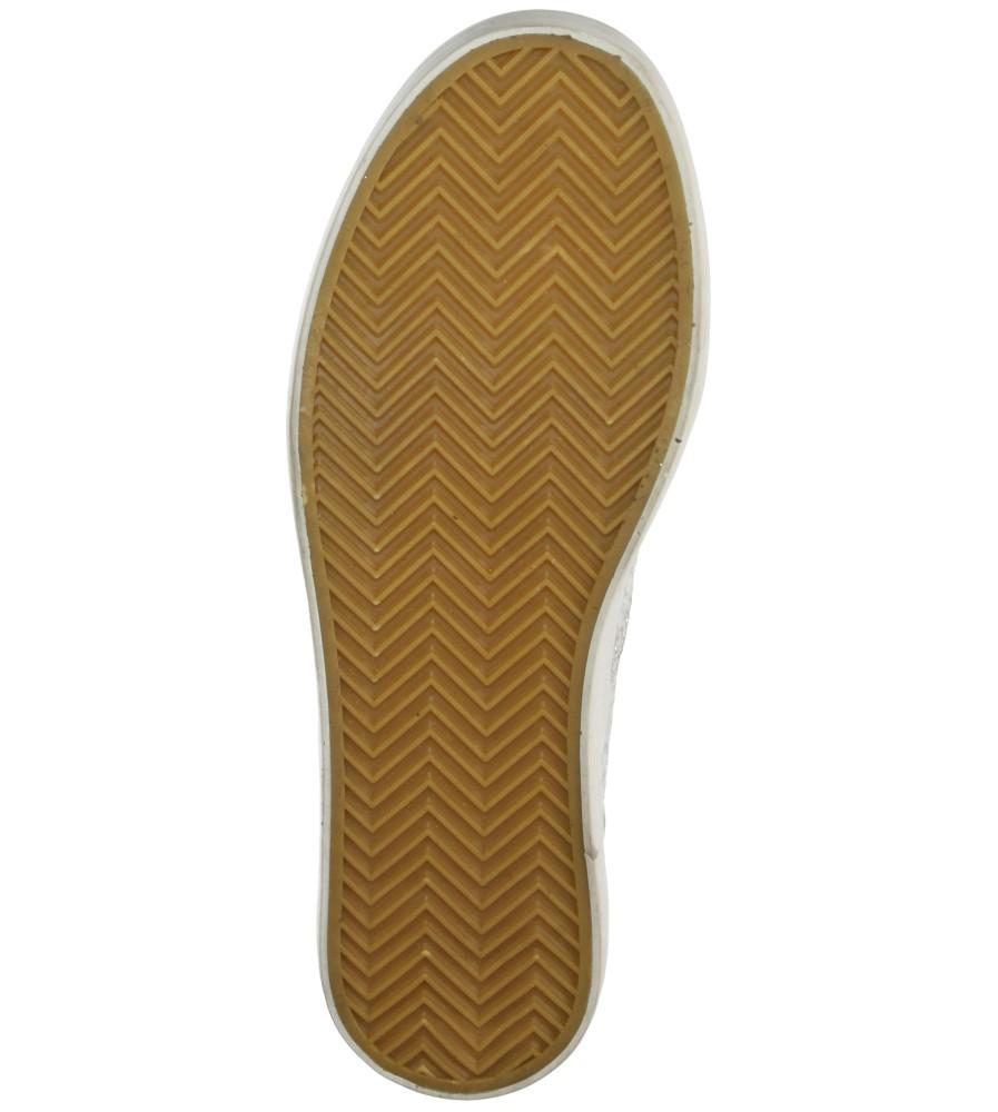 Damskie CREEPERSY CASU W-2306 srebrny;;