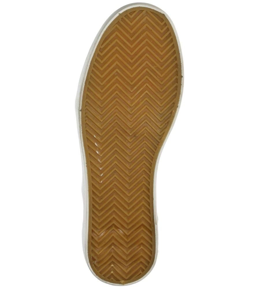 Damskie CREEPERSY CASU W-2306 złoty;;