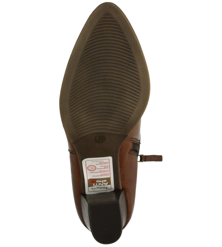 Damskie BOTKI TAMARIS 1-25393-25 brązowy;;