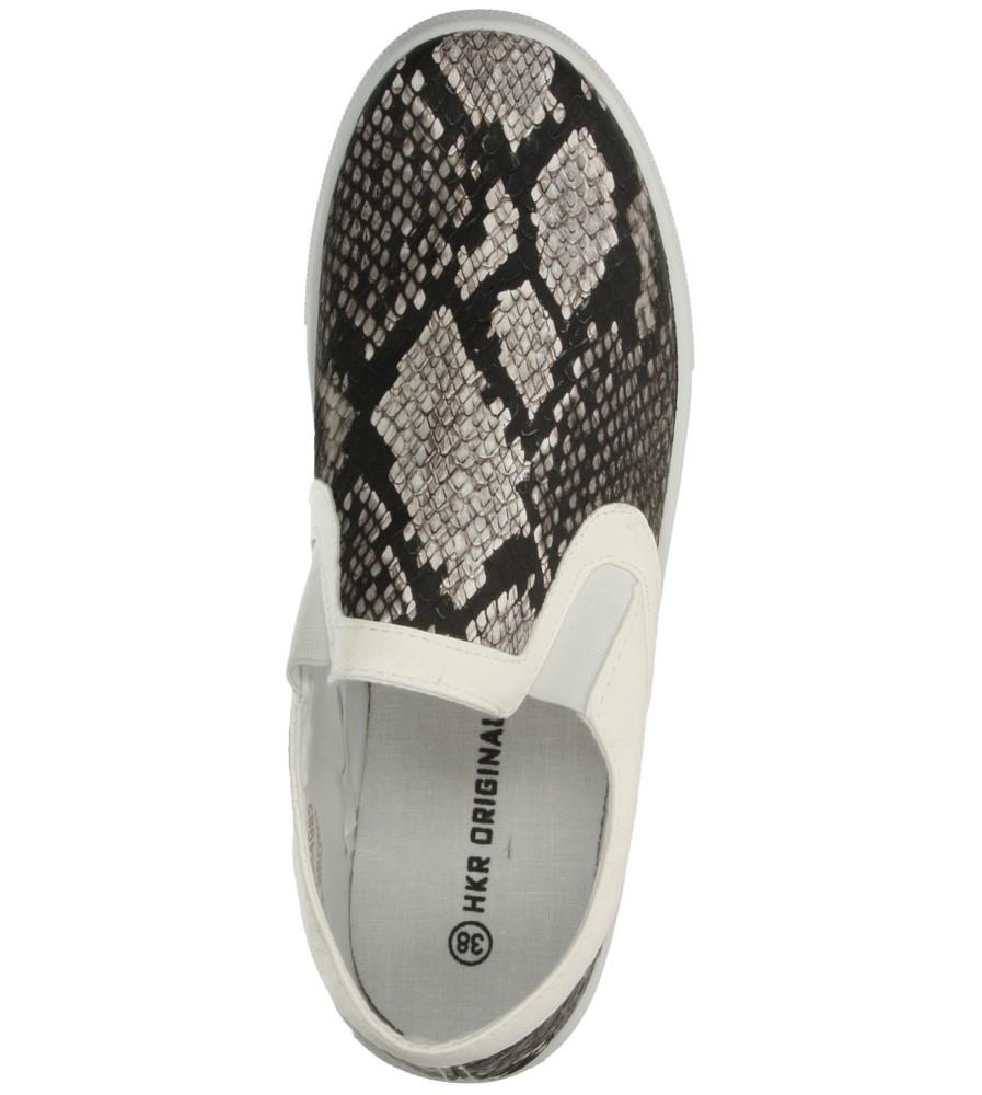 CREEPERSY CASU 7TX-AI84982 kolor biały, czarny, jasny brązowy