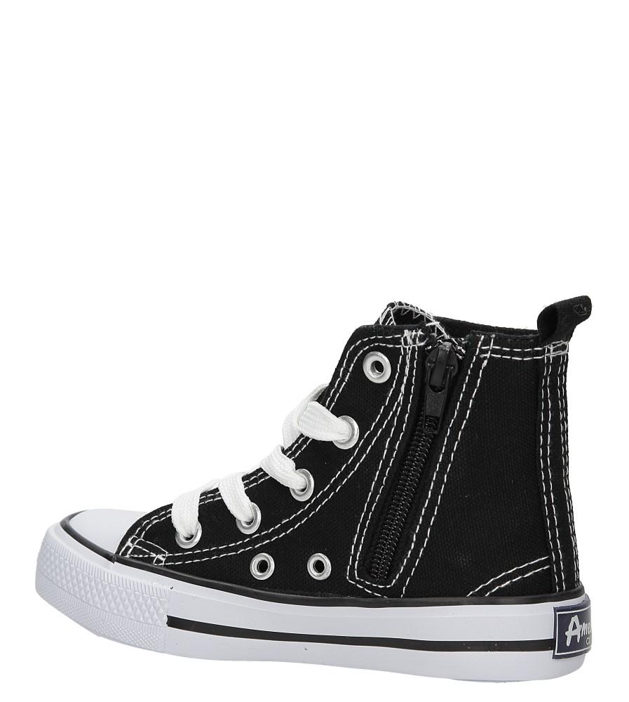 Dziecięce TRAMPKI AMERICAN LH-15-9120-1 czarny;biały;