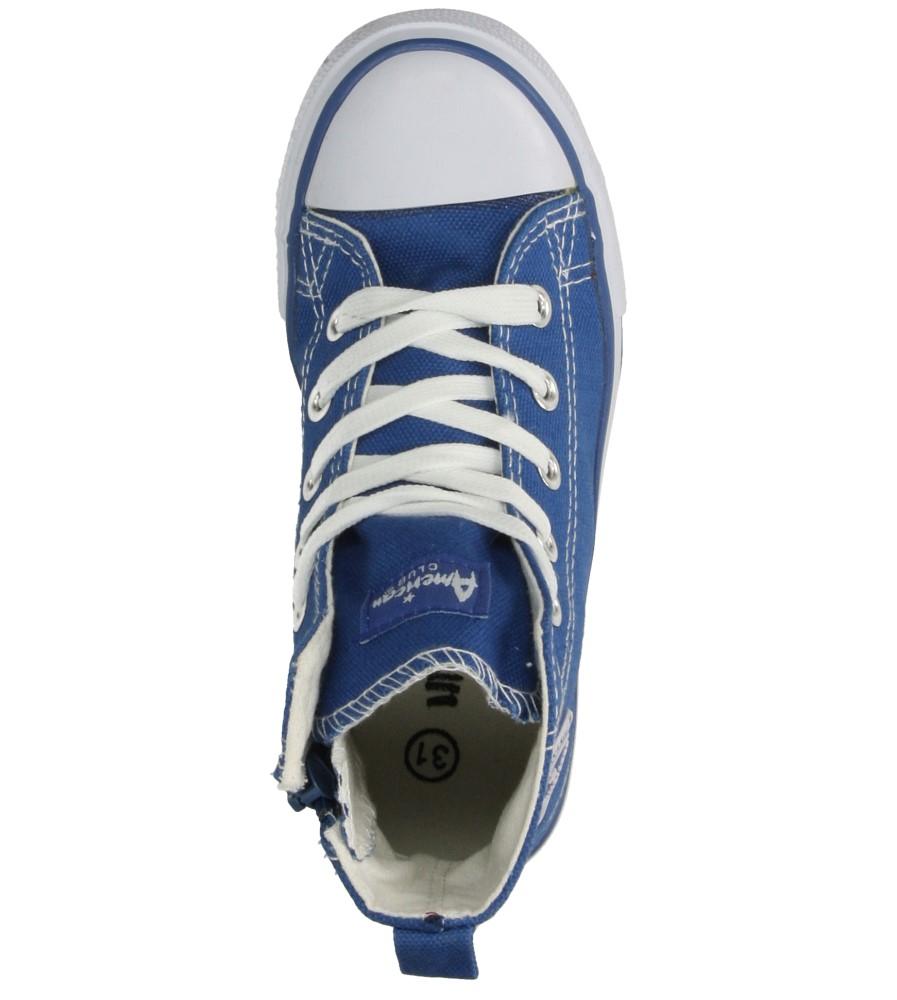 Dziecięce TRAMPKI AMERICAN LH-15-9120-1 niebieski;biały;
