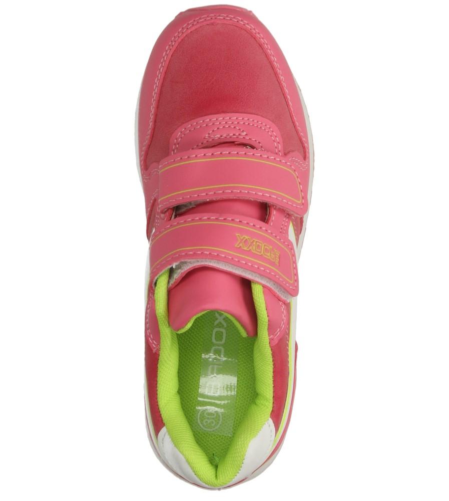 Dziecięce SPORTOWE 3XC7049 różowy;zielony;