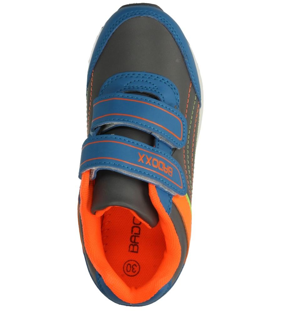 Dziecięce SPORTOWE 3XC6856 niebieski;pomarańczowy;