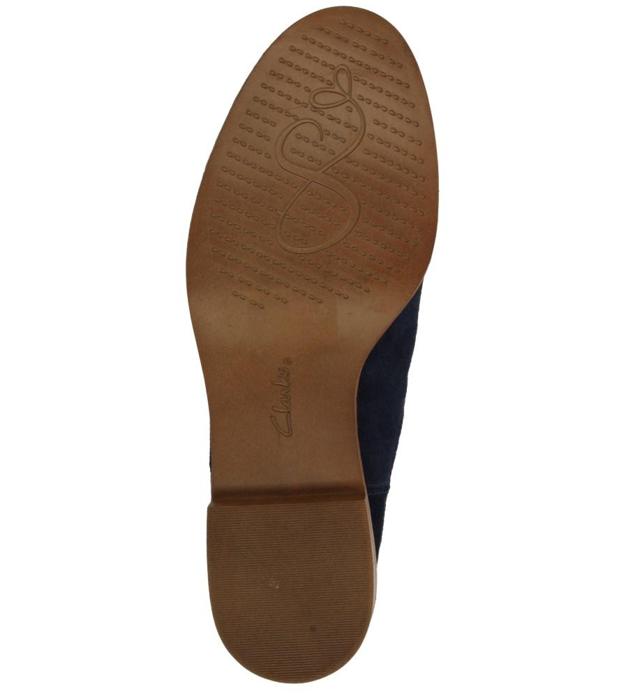 Damskie SZTYBLETY CLARKS TAYLOR SHINE 26112860 niebieski;;