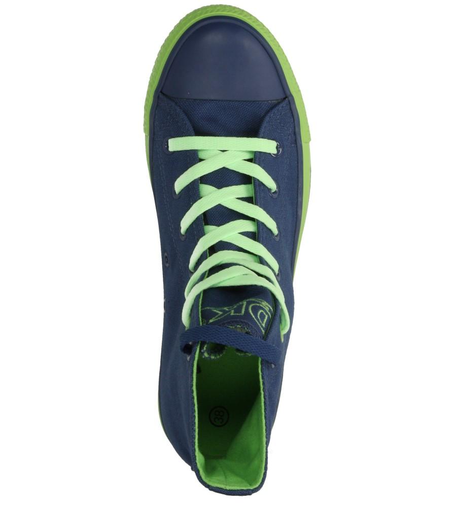 Damskie TRAMPKI DK 14SS039 niebieski;zielony;