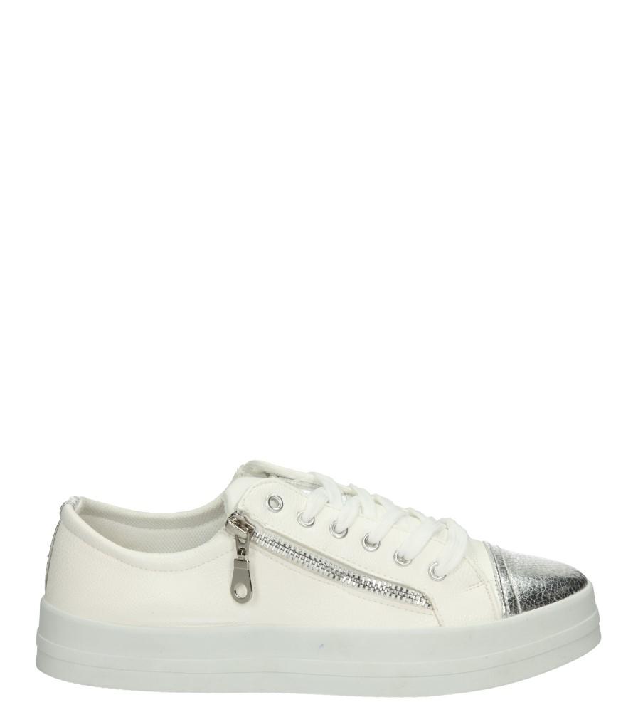 Damskie CREEPERSY CASU B727 biały;srebrny;