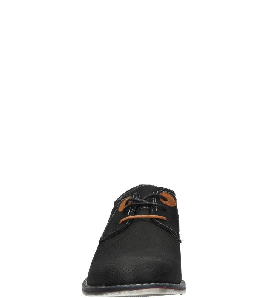 Męskie PÓŁBUTY CASU 9F-BK84990 czarny;brązowy;