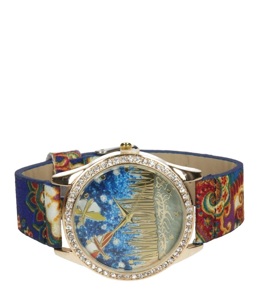 Damskie ZEGAREK 669136 niebieski;złoty;multikolor