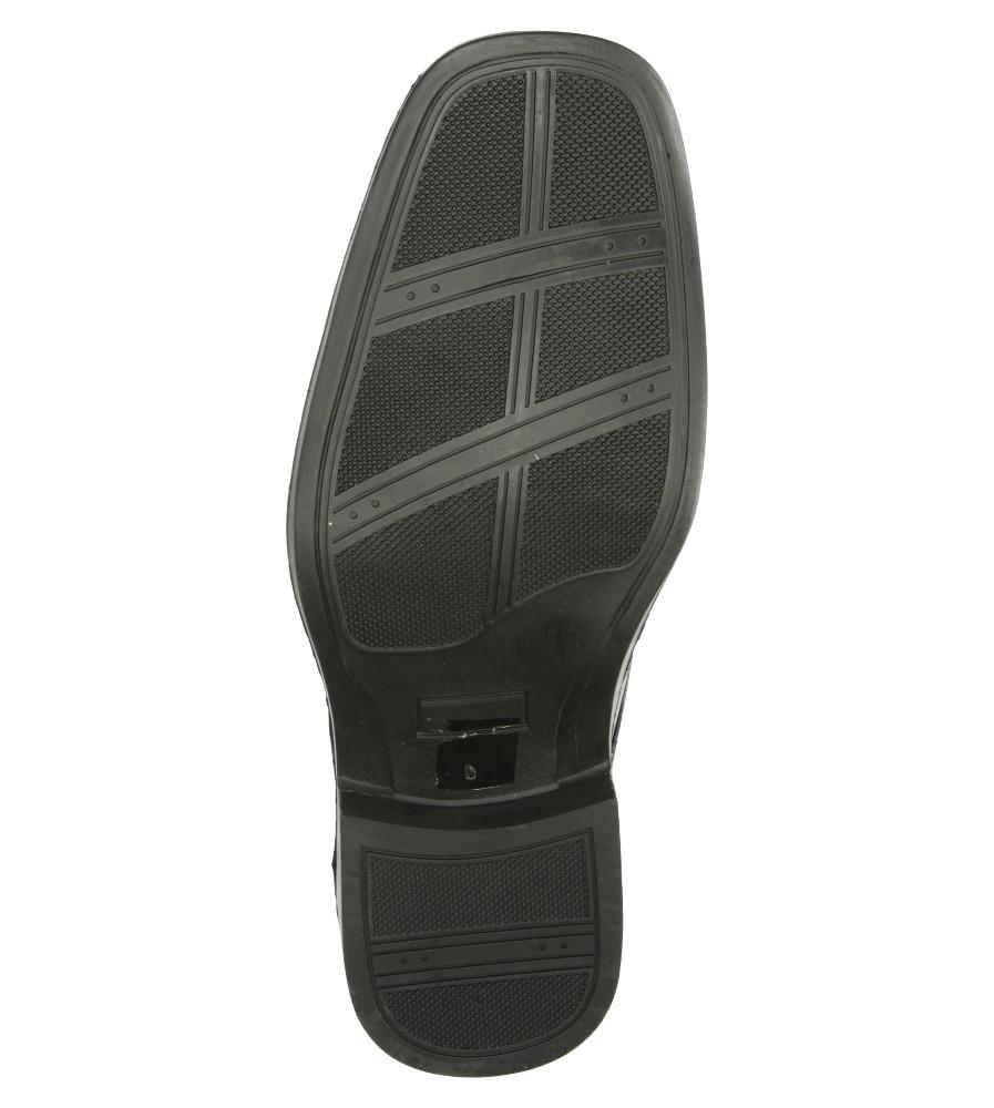 Męskie WIZYTOWE CASU ZC60007 czarny;;