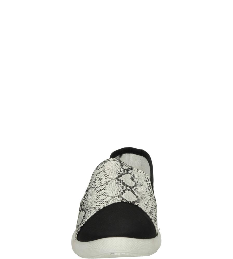 Damskie SLIP ON CASU X-22 biały;czarny;