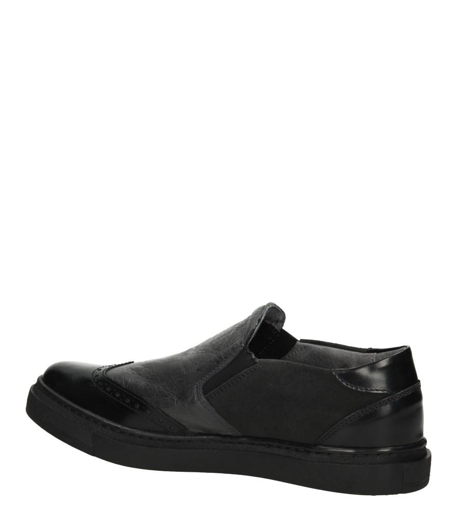 SLIP ON VERANO 3071 kolor czarny, szary
