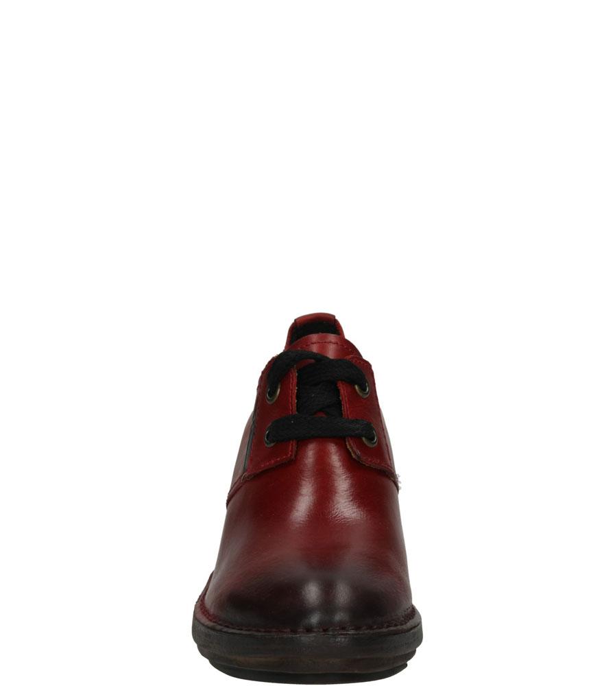 Damskie PÓŁBUTY FLY LONDON P300618004 czerwony;;