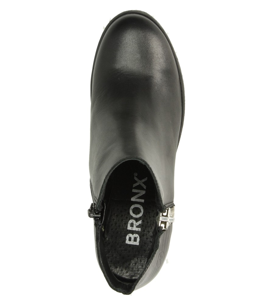 Damskie BOTKI BRONX 33768-E czarny;;