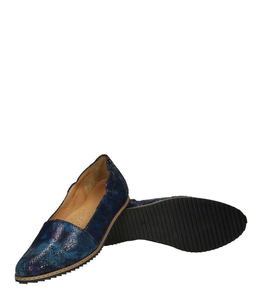 Damskie BALERINY EKSBUT 25-3879 niebieski;czarny;