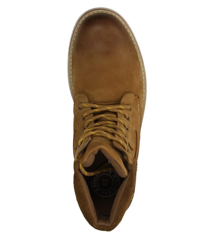Męskie TRZEWIKI AMERICAN SB4581-2 brązowy;;