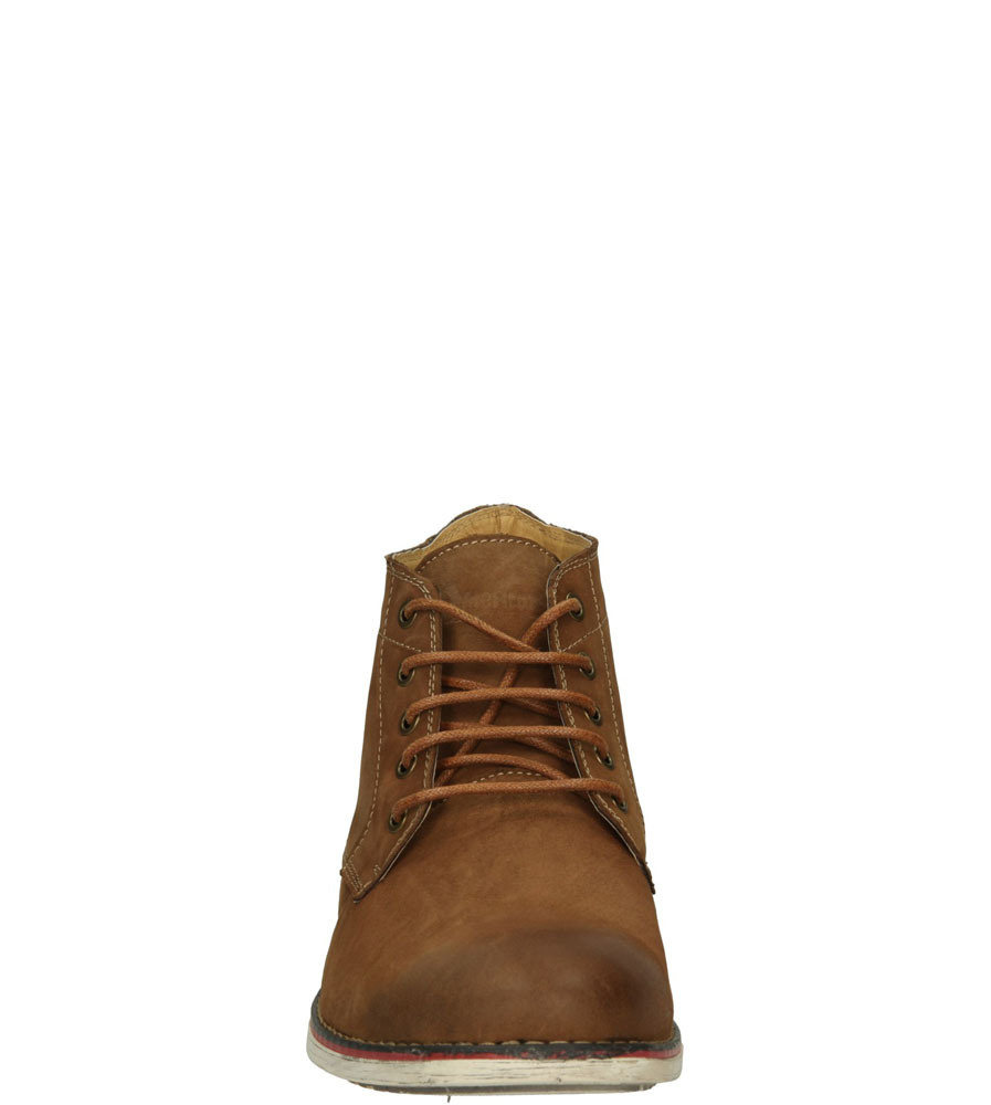 Męskie TRZEWIKI AMERICAN SB4565-10 brązowy;;