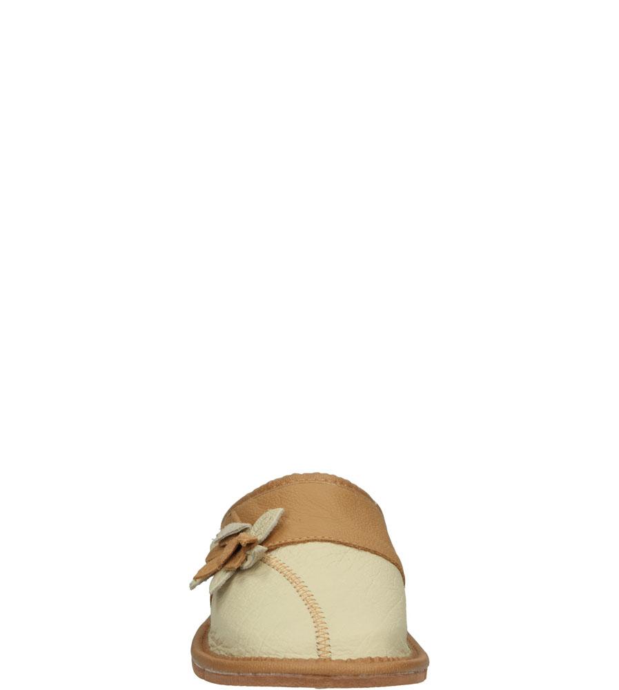 Damskie KAPCIE CASU D-667 beżowy;brązowy;