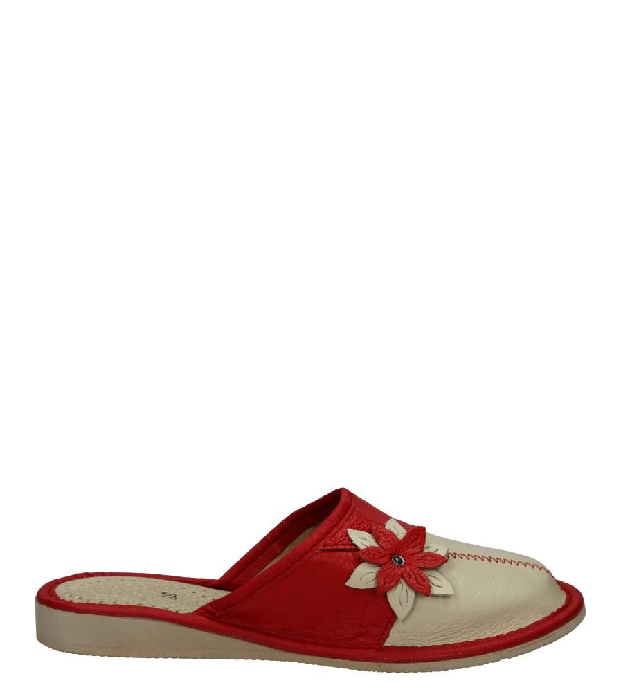 Damskie KAPCIE CASU D-667 beżowy;czerwony;