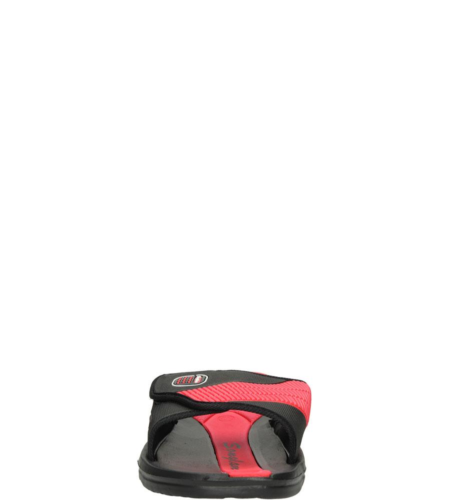 Męskie KLAPKI CASU 881-19 czarny;czerwony;
