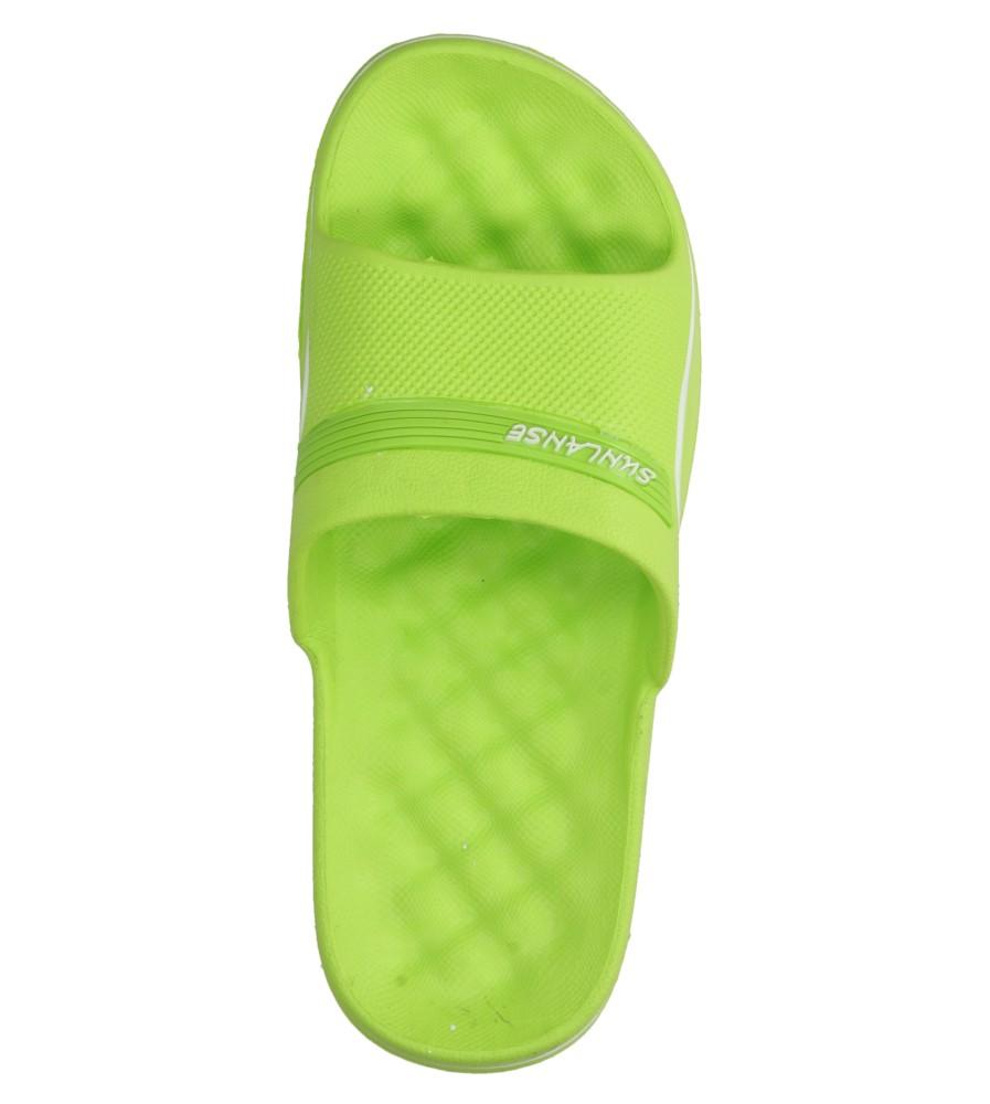 Damskie KLAPKI CASU H609 zielony;biały;