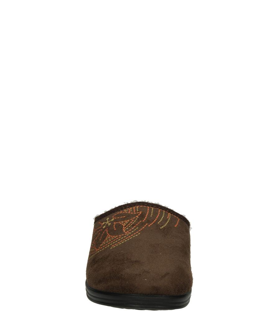 Damskie KAPCIE INBLU RA000055 brązowy;;