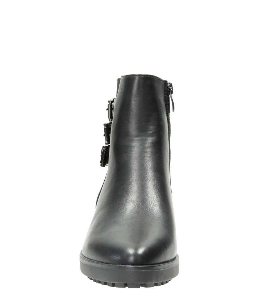 Damskie BOTKI S.BARSKI 11016-8 czarny;;