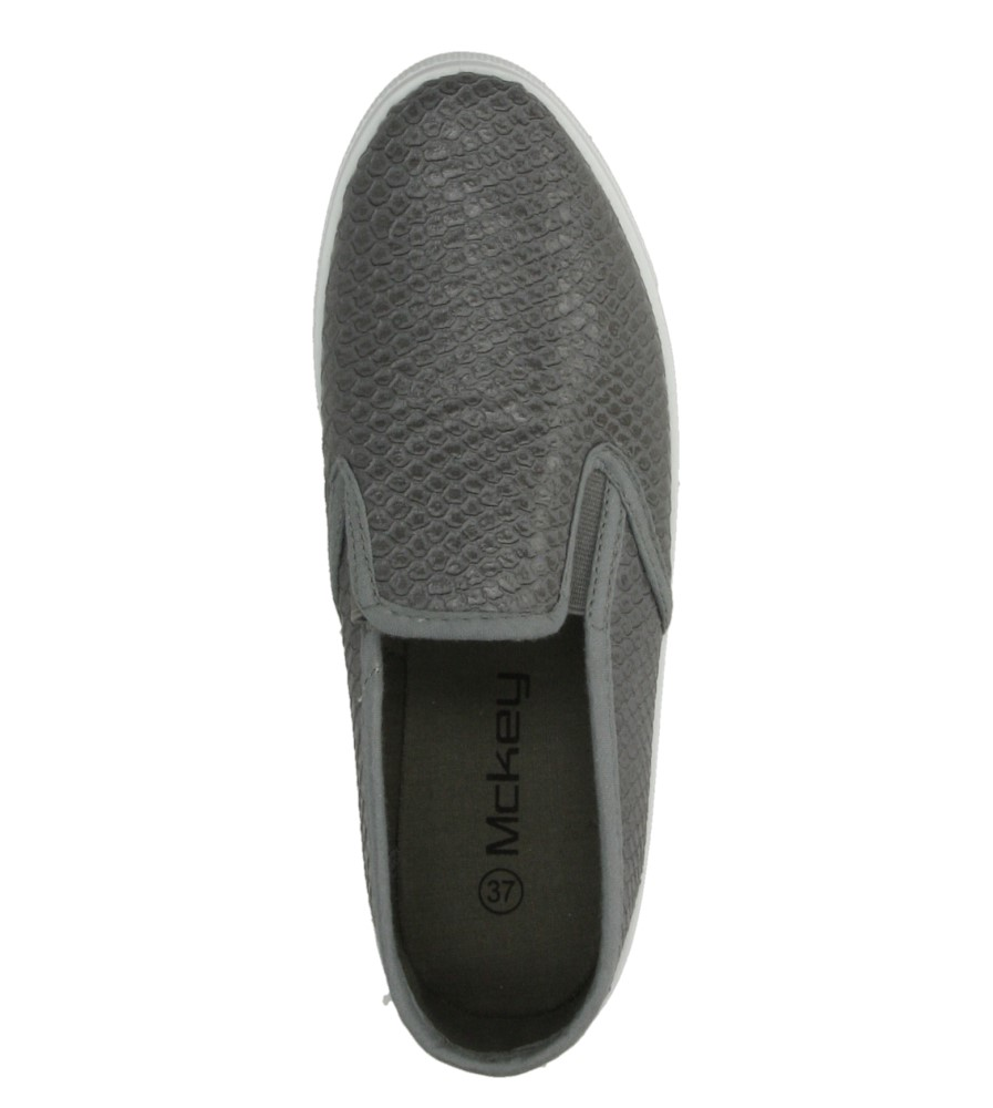 SLIP ON MCKEY R15-D-TN-669 kolor szary