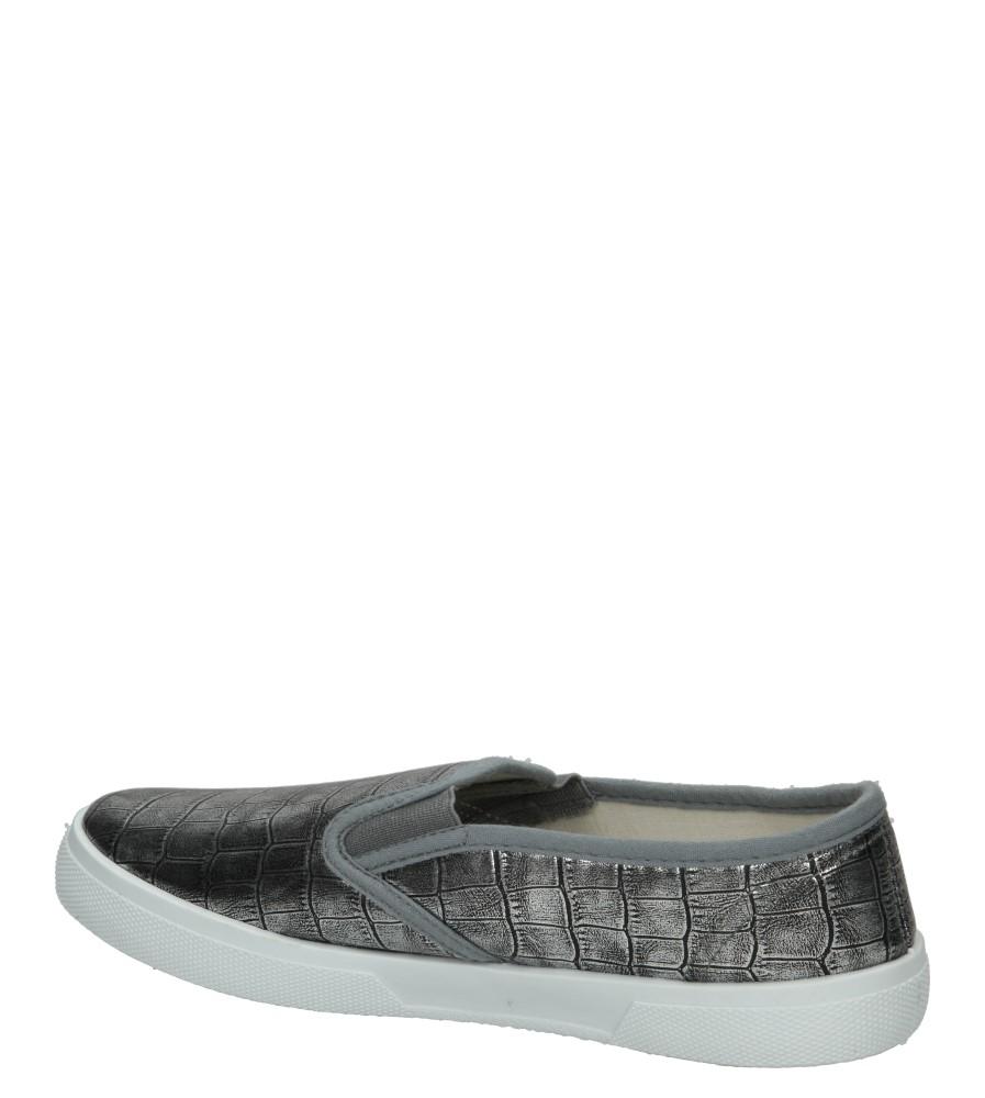Damskie SLIP ON MCKEY R15-D-TN-705 srebrny;;