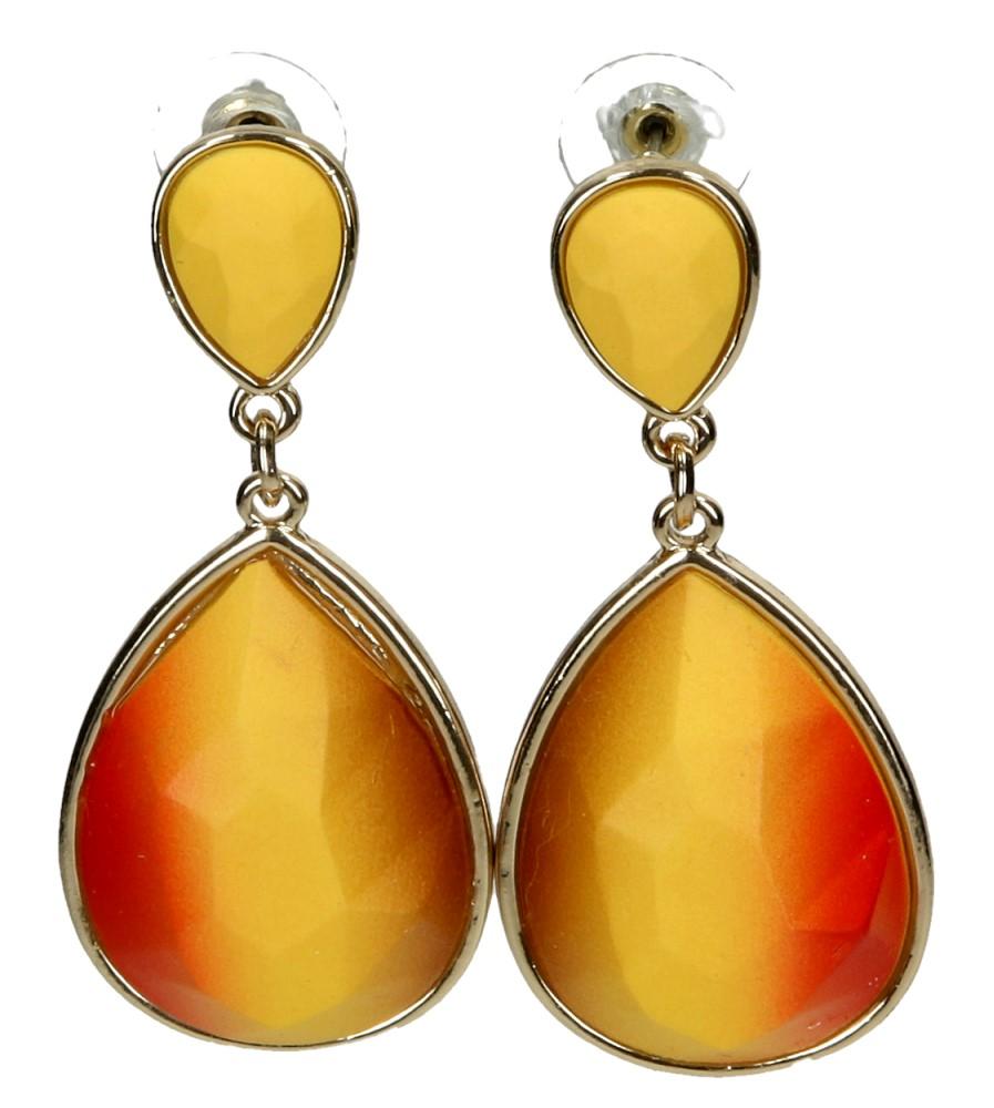 Damskie KOLCZYKI EH1500319 żółty;pomarańczowy;złoty