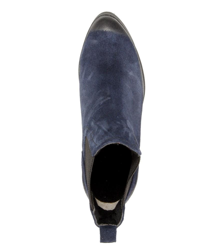 Damskie BOTKI LEMAR 861 niebieski;;