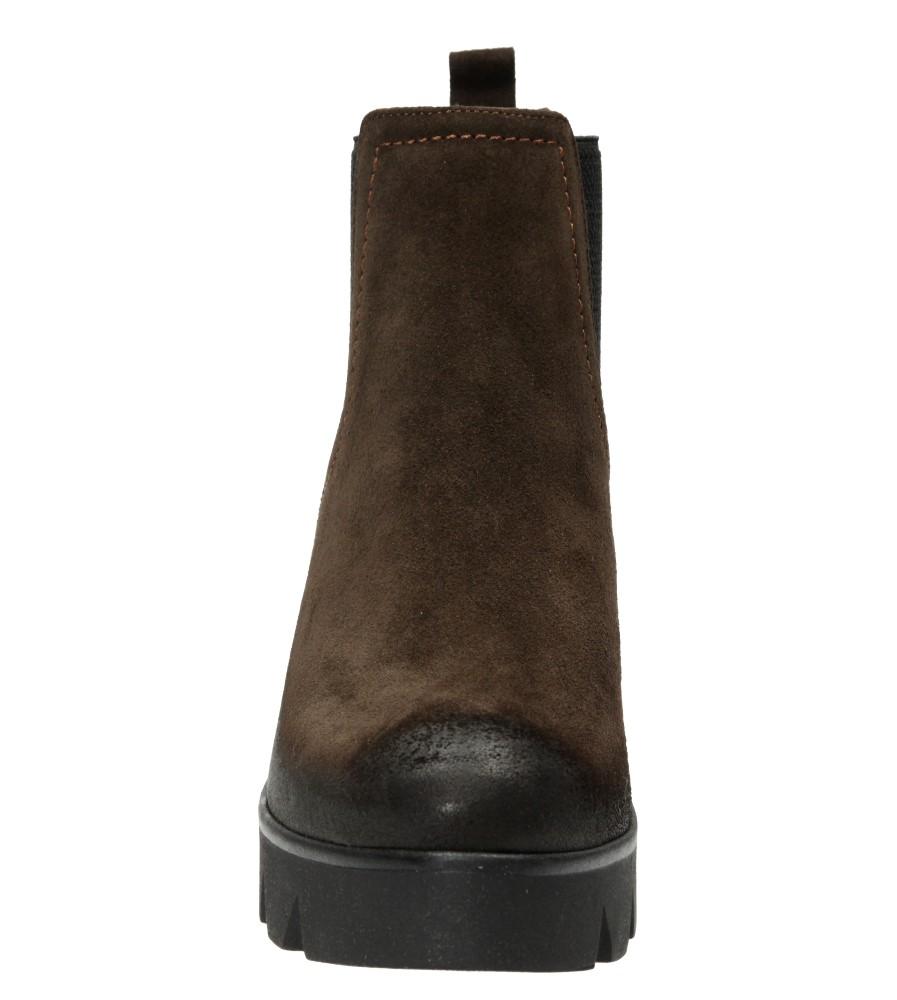 Damskie BOTKI LEMAR 861 brązowy;;