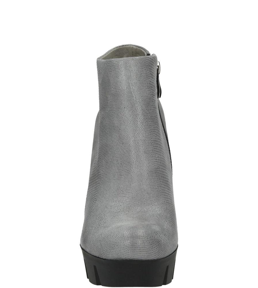 Damskie BOTKI NESSI 690/N szary;;