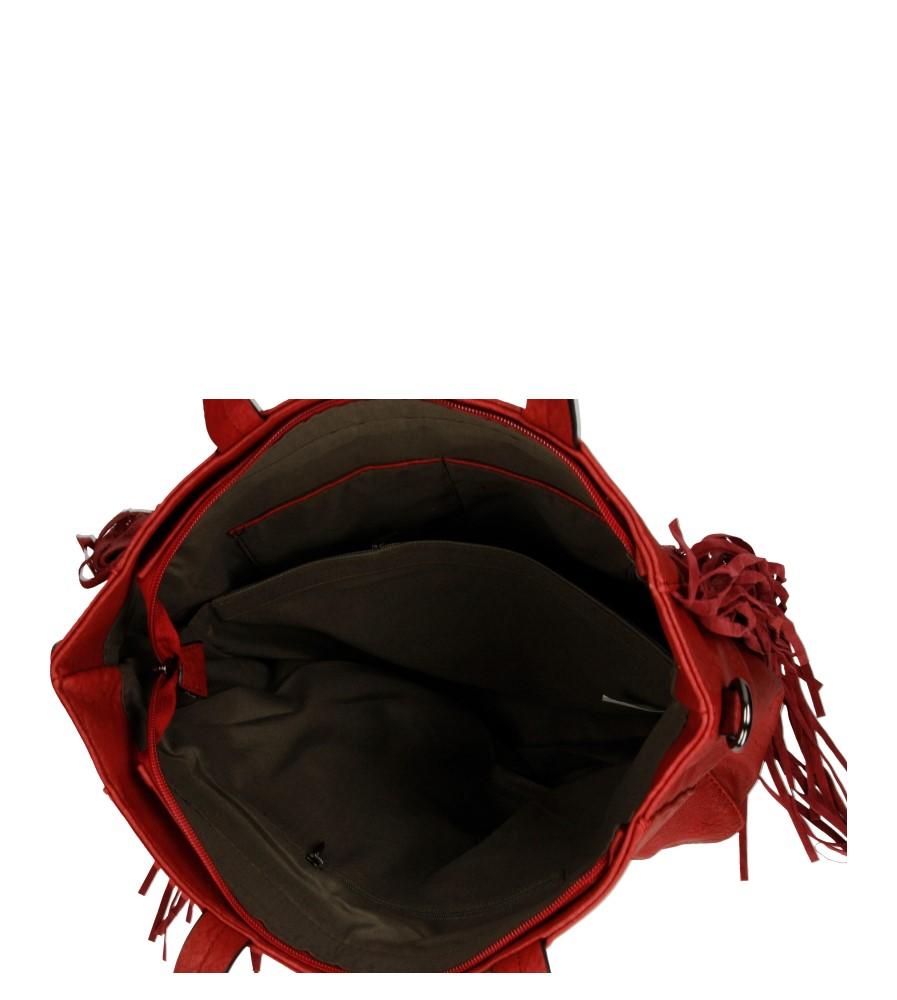 Damskie TOREBKA D23035 czerwony;;