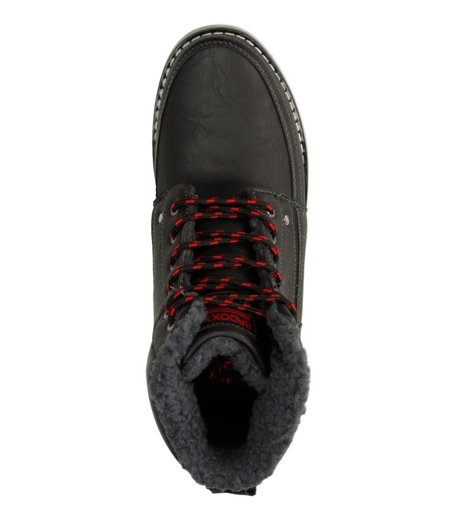 Męskie TRZEWIKI CASU MXC7030-W czarny;czerwony;