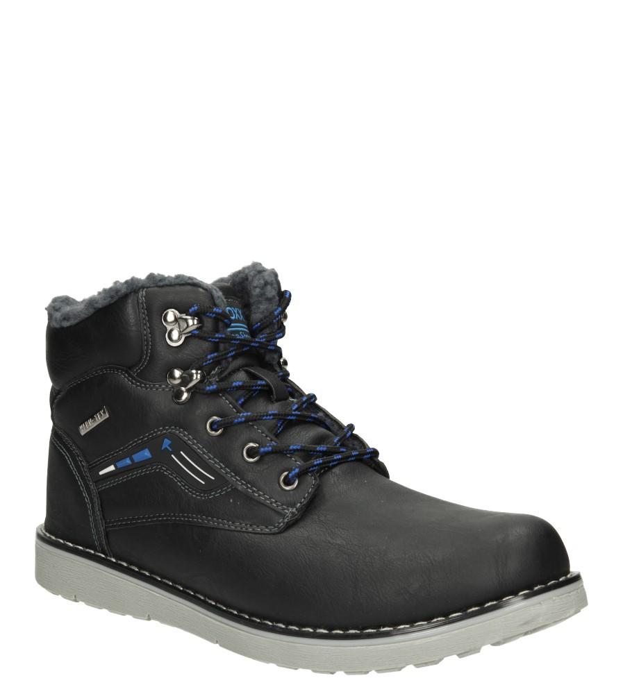 Męskie TRZEWIKI CASU MXC7031-W czarny;niebieski;